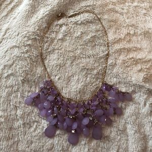 💜 lavender and gold statement necklace 💜
